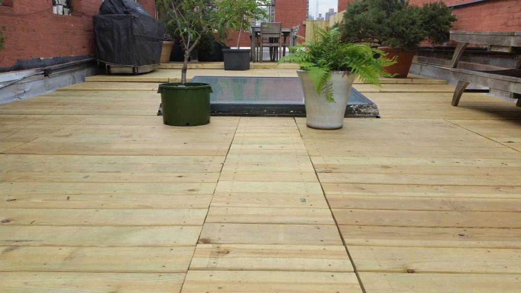 Harlem rooftop deck