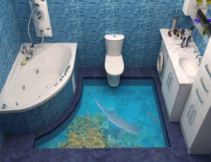 8 cool 3d floors cool artistic flooring trend ekony for Liquid lino floor paint