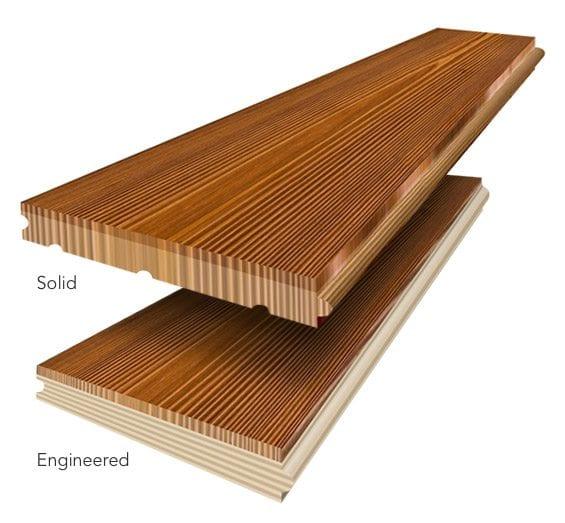 engineered wood floors and solid wood floors